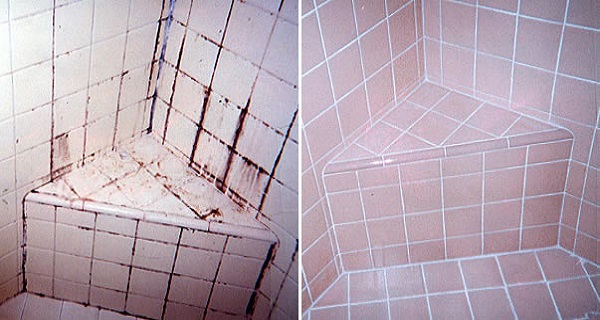 3Ingredient Natural Grout and Tile Cleaner keeps tiles spotless