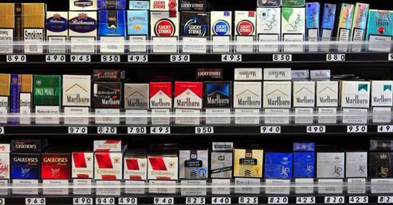Unfiltered cigarettes Marlboro brands Canada