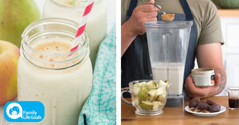 Image of 5-ingredient diabetes-REVERSING smoothie with pears, brazil nut milk and coconut manna