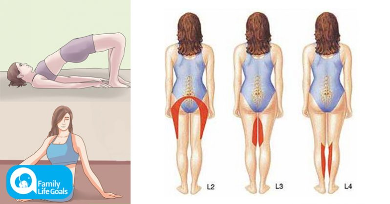Image of Try these 7 Sciatica pain stretches in a row for relief