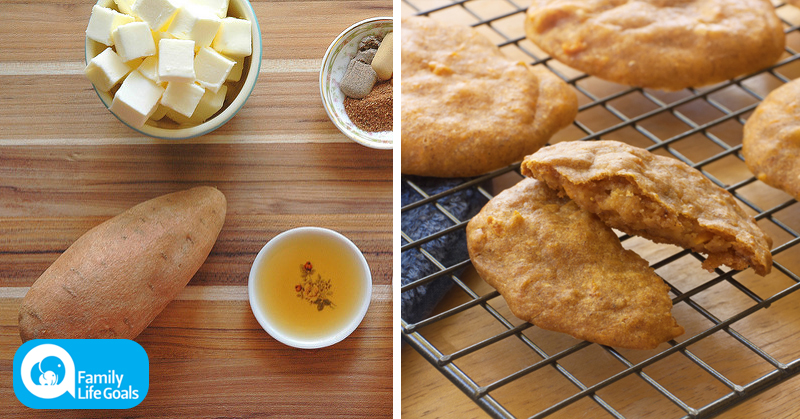 Soft and Chewy Sweet Potato Cookie Recipe with almond butter, honey and cinnamon