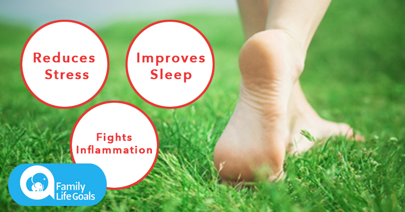 Take a 10-minute barefoot walk and FEEL what happens to your pain, stress and sleep