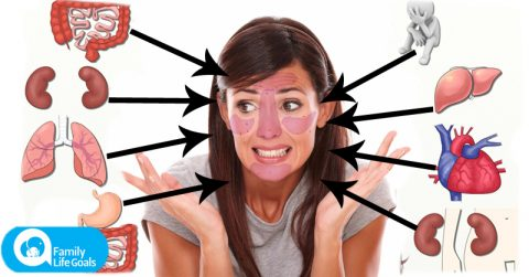 Image of What the placement of acne on your face says about the health of SPECIFIC organs