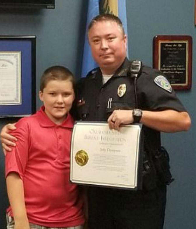 officer jody thompson and son
