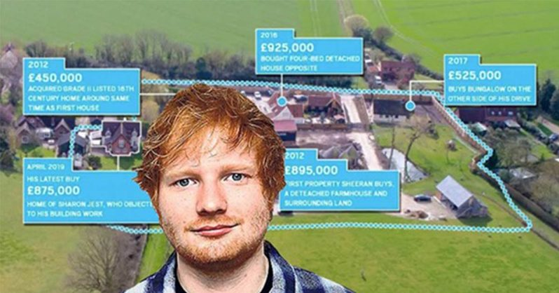 Image of Ed Sheeran Stops Neighbours' Complaints By Simply Buying Their Homes
