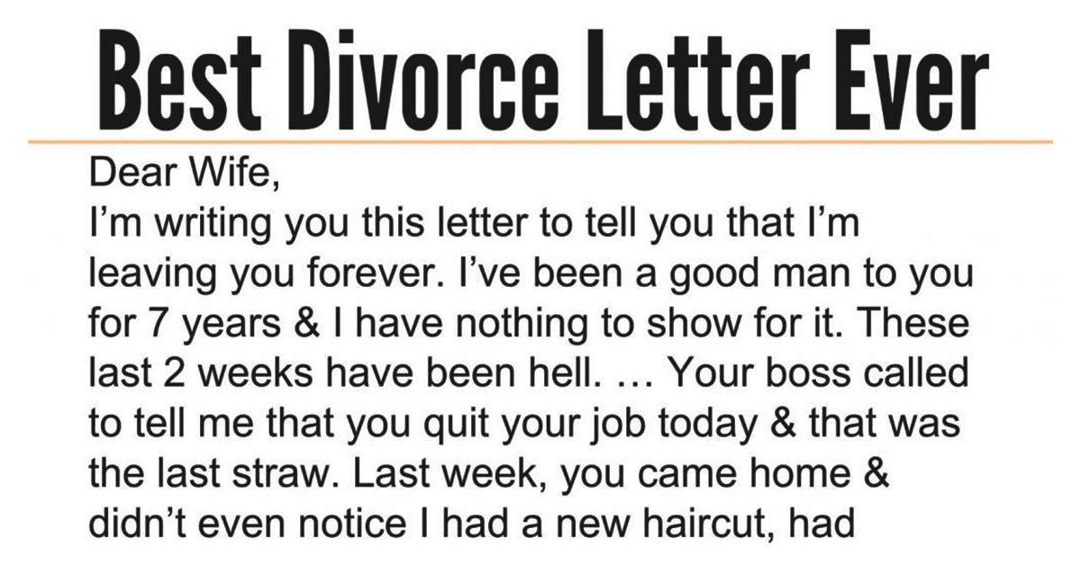 A Woman's Reply to Her Husband Divorcing Her and Eloping with Her Sister