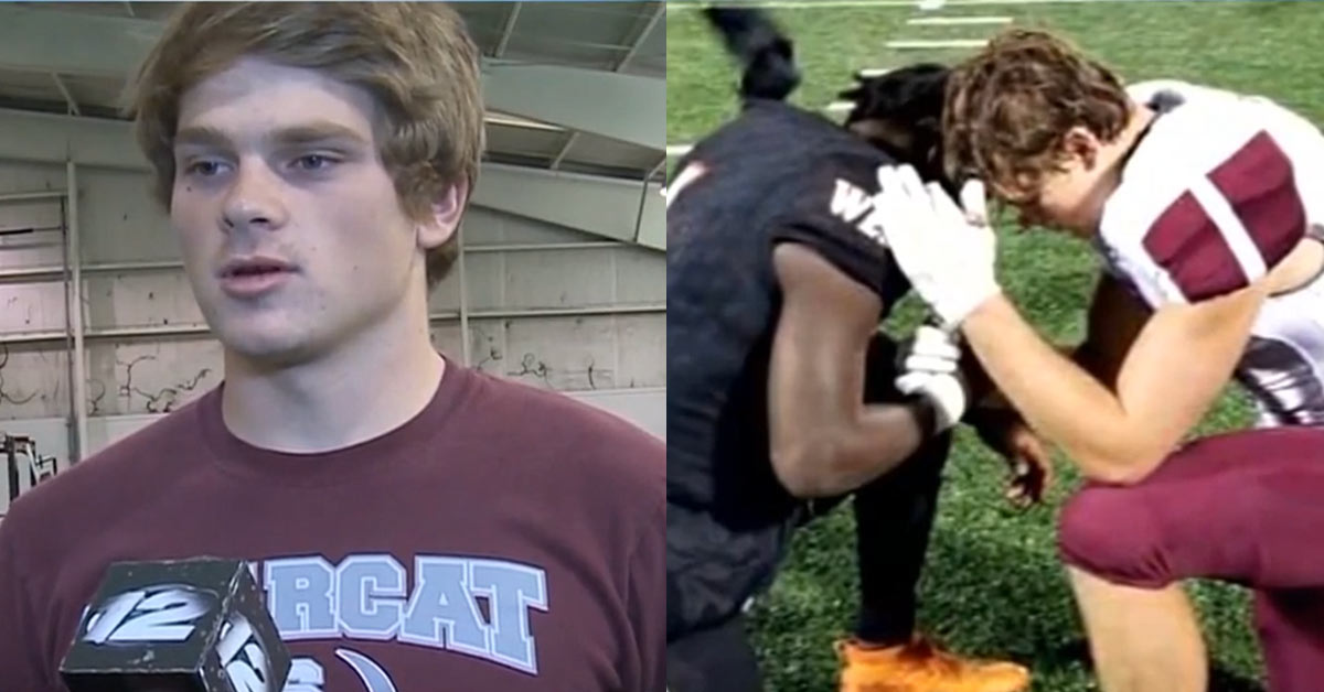 High School Football Player in Texas Goes Viral After He Praying For Opponent Whose Mom Has Cancer