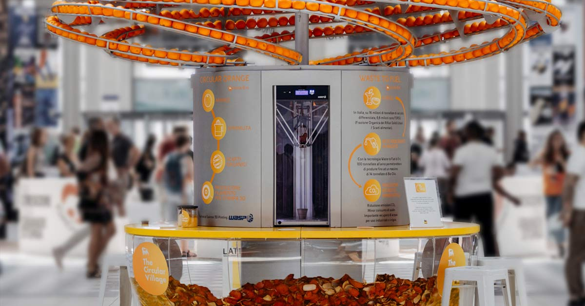 Zero-Waste Orange Juicer Uses A 3D Printer to Make Disposable Cups from Orange Peels