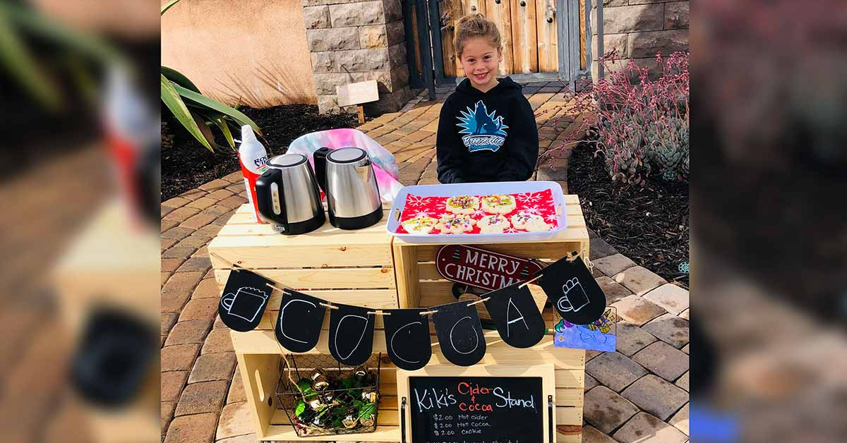 5-year-old pupil's hot cocoa stand paid off the outstanding lunch balances of 123 students