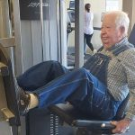 91-Year-old Gym Member Who Works Out in Overalls Becomes Social Media Poster Boy for Good Health